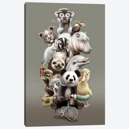 Zoo Canvas Print #ADL104} by Adam Lawless Canvas Artwork
