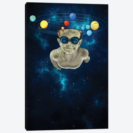 Swim The Universe Canvas Print #ADL115} by Adam Lawless Art Print