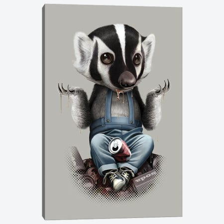 Badger Takes All Canvas Print #ADL118} by Adam Lawless Canvas Art