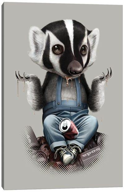 Badger Takes All Canvas Art Print
