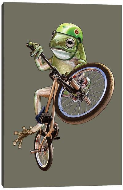 BMX Frog Canvas Art Print