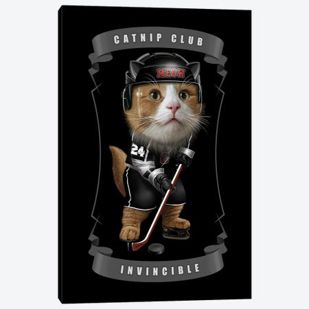 Catnip Hockey Canvas Print #ADL129} by Adam Lawless Canvas Art Print