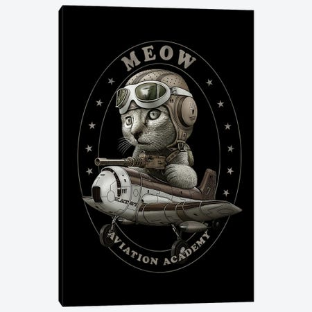 Meow Aviation Academy Canvas Print #ADL145} by Adam Lawless Canvas Artwork