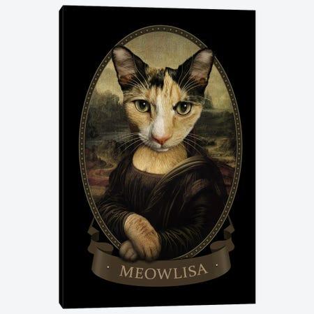 Meowlisa Canvas Print #ADL147} by Adam Lawless Canvas Artwork