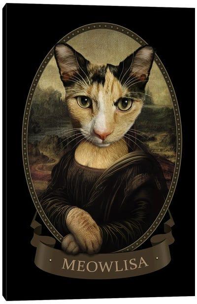 Meowlisa Canvas Art Print
