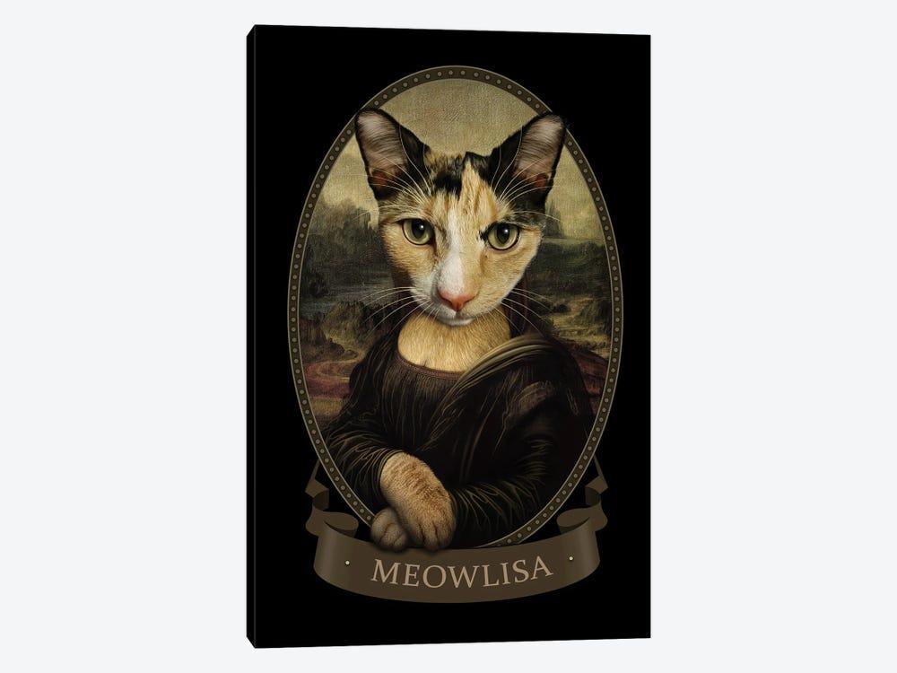 Meowlisa by Adam Lawless 1-piece Canvas Wall Art