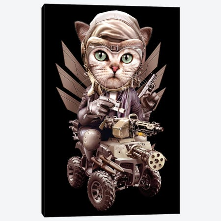 Cat Lord Canvas Print #ADL14} by Adam Lawless Canvas Artwork