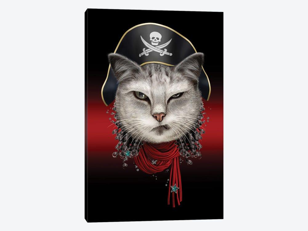 Portrait Of Pirate Cat by Adam Lawless 1-piece Art Print