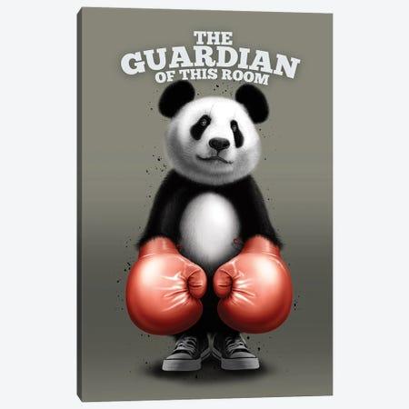 The Guardian Panda Canvas Print #ADL173} by Adam Lawless Canvas Artwork