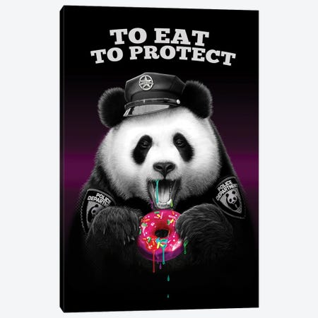 To Eat To Protect Canvas Print #ADL176} by Adam Lawless Art Print