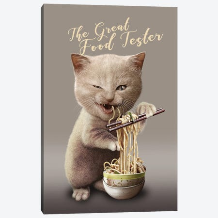 The Great Food Tester Canvas Print #ADL177} by Adam Lawless Art Print