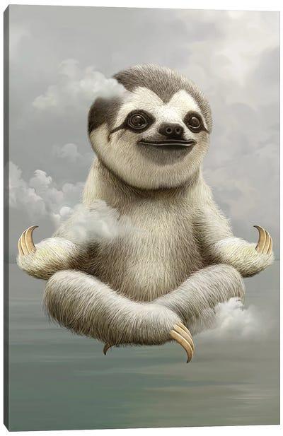 Sloth Meditate Canvas Art Print