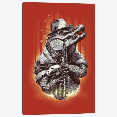 Croc Rock Canvas Print #ADL20} by Adam Lawless Canvas Wall Art
