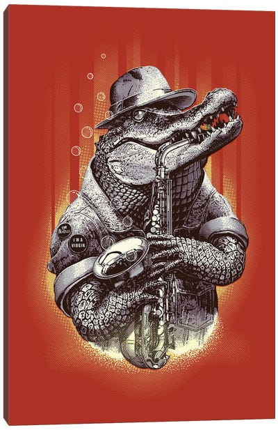 Croc Rock Canvas Art Print