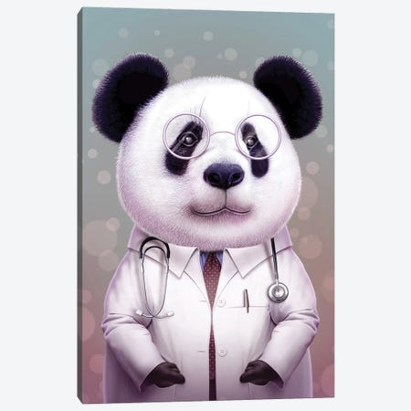 Doctor Panda Canvas Print #ADL22} by Adam Lawless Canvas Art