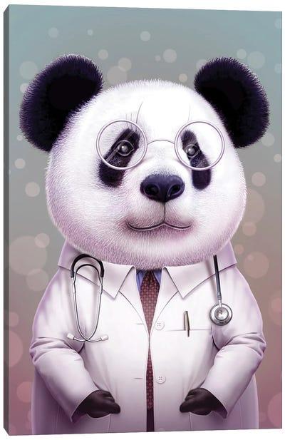 Doctor Panda Canvas Art Print