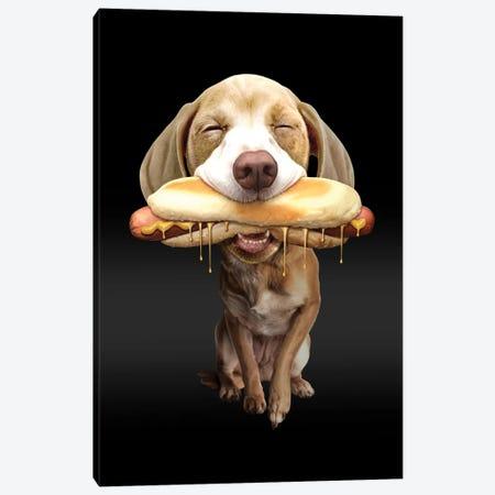 Hot Dog Canvas Print #ADL36} by Adam Lawless Canvas Art