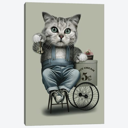 Ice Cream Seller Canvas Print #ADL37} by Adam Lawless Canvas Wall Art