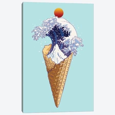 Kanagawa Ice Cream Canvas Print #ADL41} by Adam Lawless Canvas Artwork