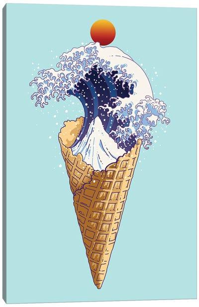 Kanagawa Ice Cream Canvas Art Print