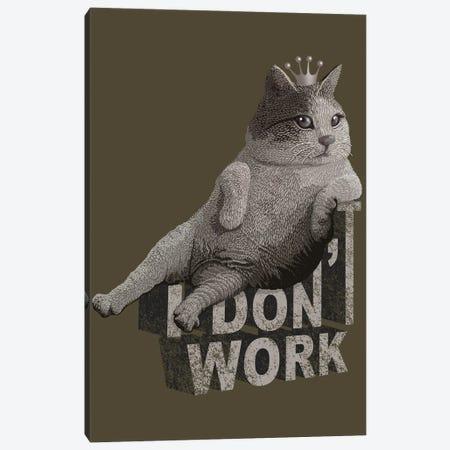 King Cat Canvas Print #ADL44} by Adam Lawless Art Print