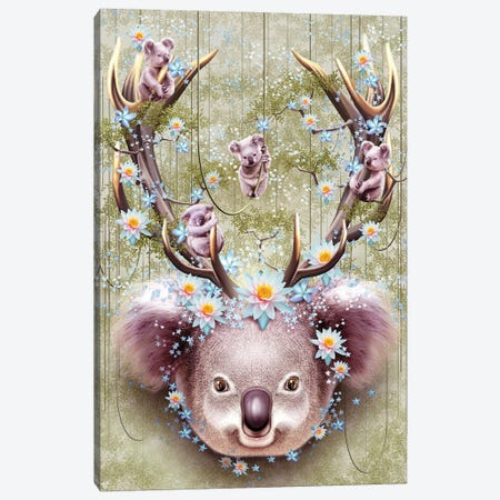 Koala Canvas Print #ADL47} by Adam Lawless Art Print