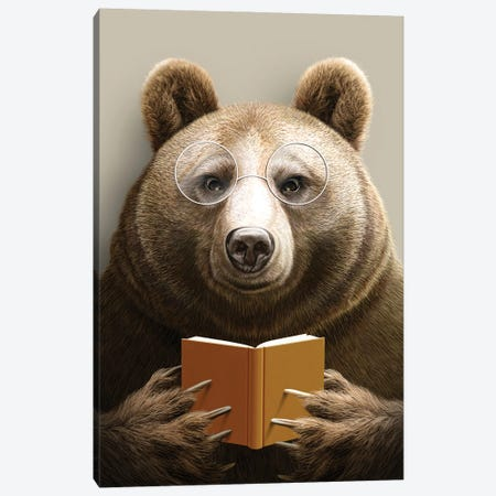 Bear Canvas Print #ADL4} by Adam Lawless Art Print