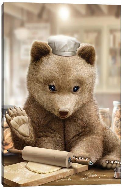 Bear Chef Canvas Art Print