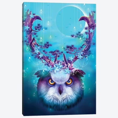 Owl Horns Up Canvas Print #ADL60} by Adam Lawless Canvas Art