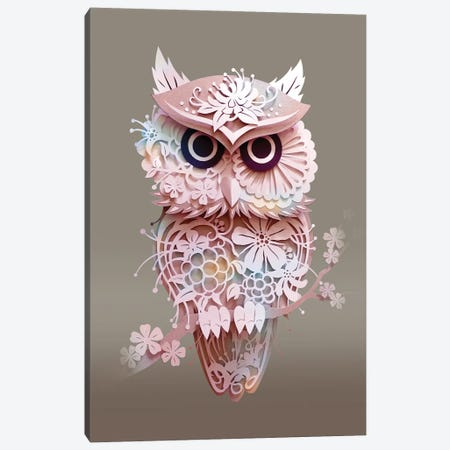 Owl In Spring Canvas Print #ADL61} by Adam Lawless Canvas Art