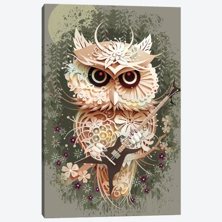 Owl Metal Festival Canvas Print #ADL62} by Adam Lawless Canvas Wall Art