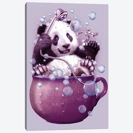 Panda Bath Canvas Print #ADL63} by Adam Lawless Canvas Art
