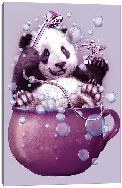 Panda Bath Canvas Art Print