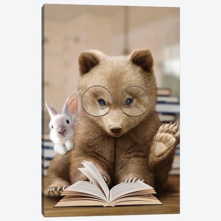 Bear Rabbit Book Canvas Print #ADL6} by Adam Lawless Canvas Print