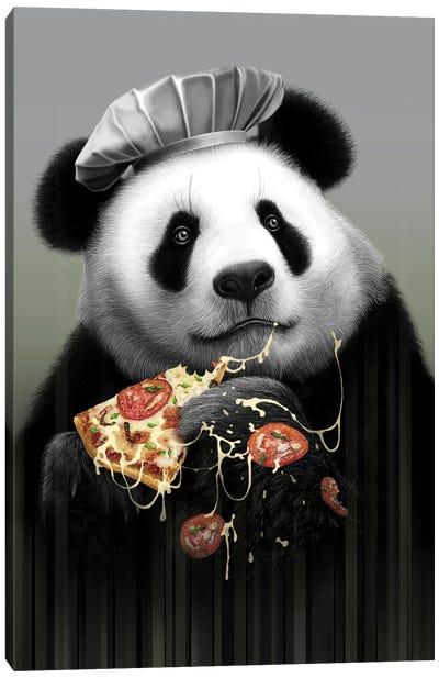 Panda Loves Pizza Canvas Art Print
