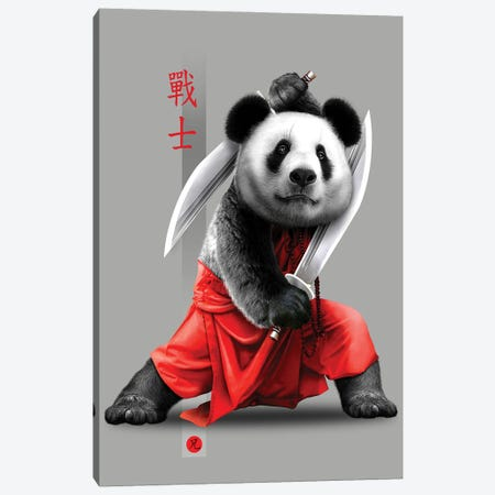 Panda Swords Canvas Print #ADL72} by Adam Lawless Canvas Print