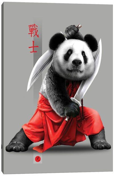Panda Swords Canvas Art Print