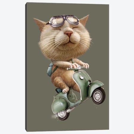 Runaway Cat Canvas Print #ADL84} by Adam Lawless Canvas Print