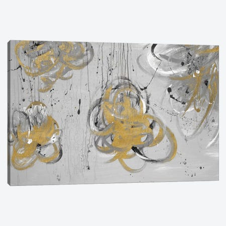 Forms Of Gray & Gold Canvas Print #ADM4} by Addie Marie Canvas Wall Art