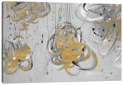 Forms Of Gray & Gold Canvas Art Print