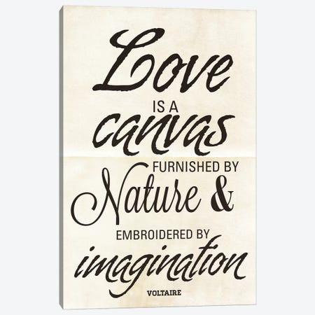 Love Is A Canvas Canvas Print #ADM5} by Addie Marie Canvas Wall Art