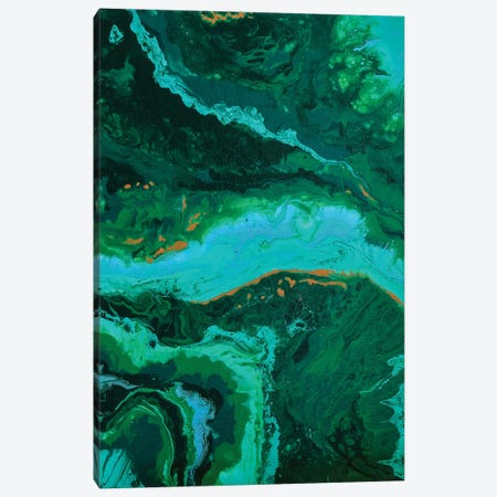 Malachite. Harmony Of Love II Canvas Print #ADN18} by Alexandra Dobreikin Canvas Print