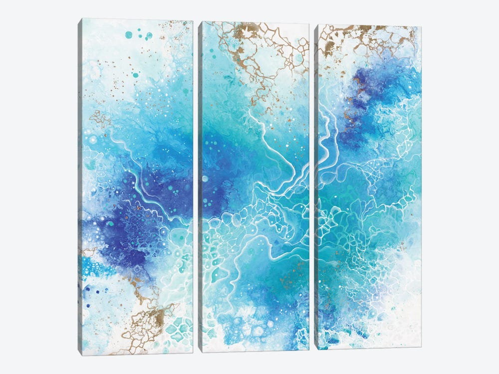 Blue Lagoon by Alexandra Dobreikin 3-piece Art Print