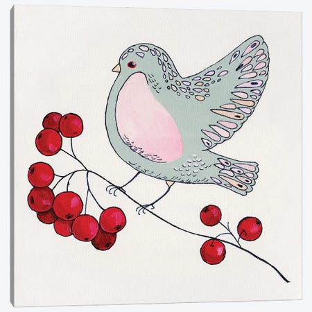 Birdie I Canvas Print #ADN26} by Alexandra Dobreikin Art Print