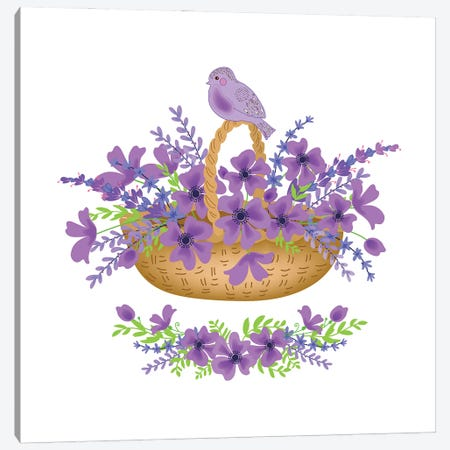 Floral Purple Canvas Print #ADN29} by Alexandra Dobreikin Canvas Wall Art