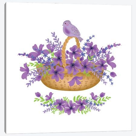 Floral Purple Canvas Print #ADN29} by Alexandra Dobreikin Canvas Wall Art