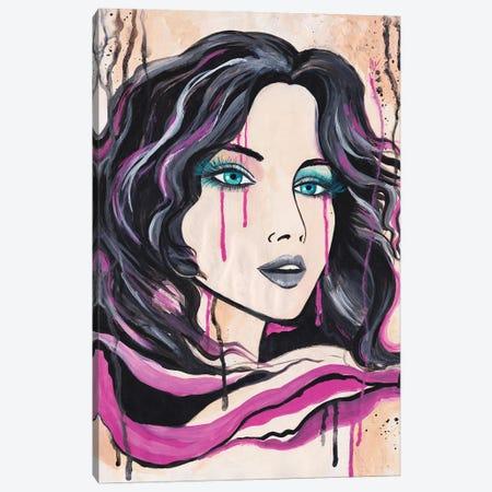 Dream Of The Pink Dragon Canvas Print #ADN40} by Alexandra Dobreikin Canvas Wall Art