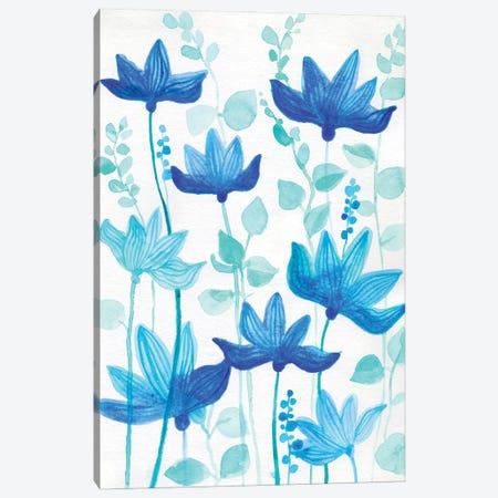 Blue Garden Canvas Print #ADN42} by Alexandra Dobreikin Canvas Wall Art
