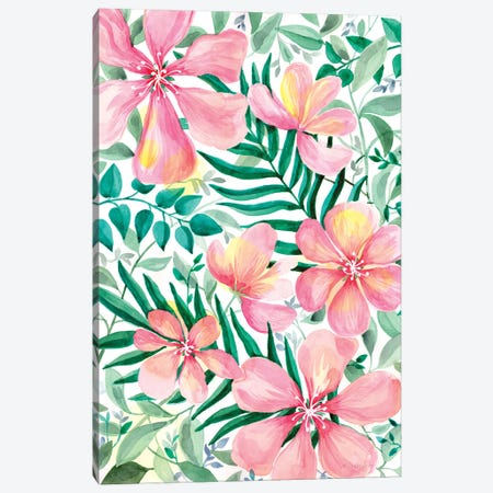 Pink Garden Canvas Print #ADN44} by Alexandra Dobreikin Art Print