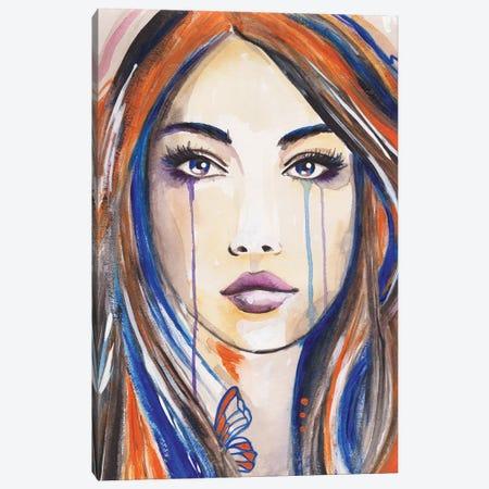 Blue Butterfly Canvas Print #ADN48} by Alexandra Dobreikin Canvas Art